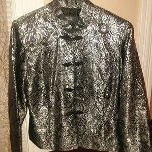 DressBarn small silver sparkle jacket